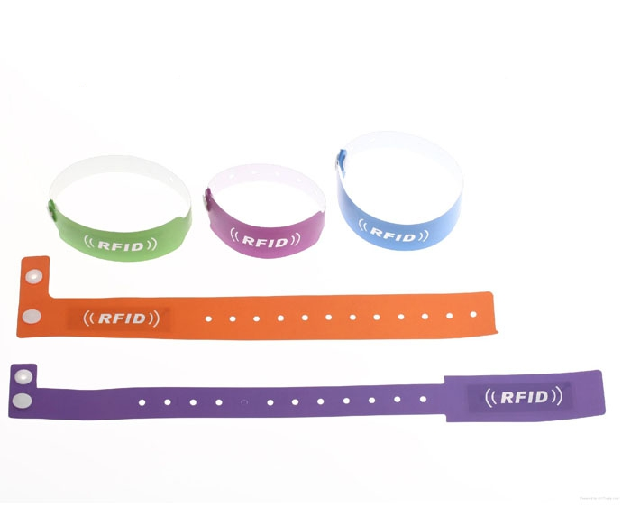 ISO 15693 NXP I CODE SLI Disposable Softer PVC RFID Wristband