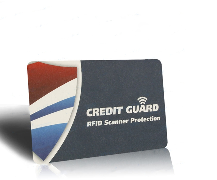 Printed RFID Blocking Card for Credit Card Protecting