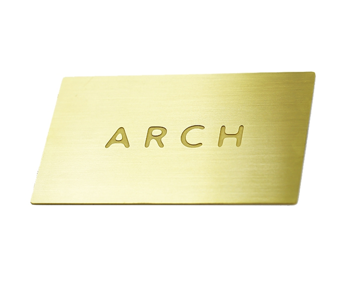 China Golden Metal Card for Promotion Gift